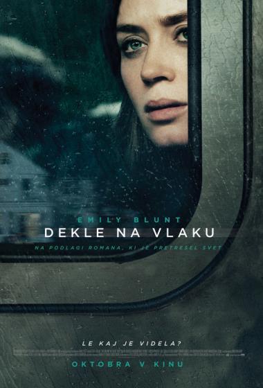 Dekle na vlaku - poster