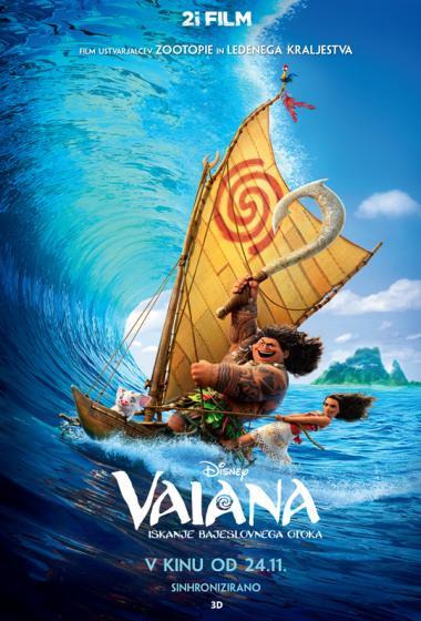 Vaiana: Iskanje bajeslovnega otoka (sinhronizirano) + delavnica - poster