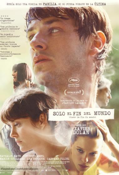 Samo konec sveta | Filmsko gledališče - poster