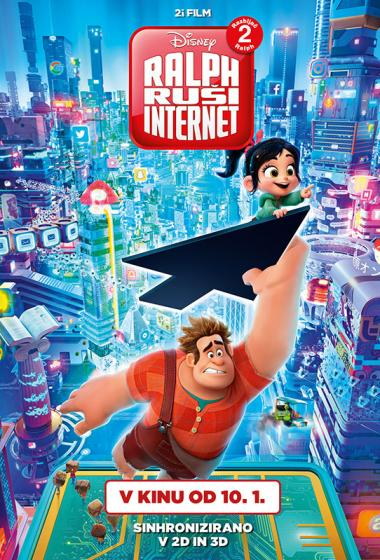 Ralph ruši Internet (sinhronizirano) 3D - poster